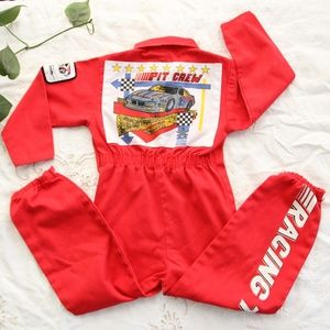 80s Vintage Toddler Racing Costume Jumpsuit 4T Sma